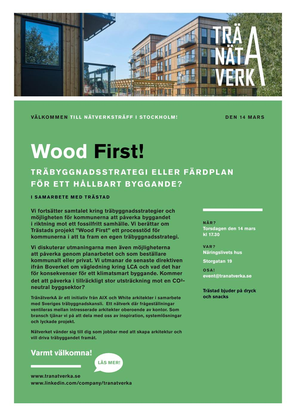 Wood First – vart leder vägen?