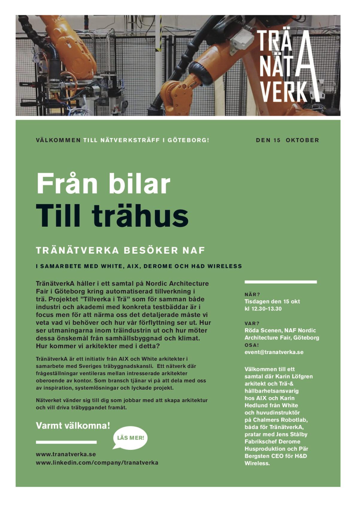 TränätverkA i Göteborg igen på NAF-mässan!