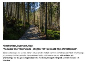 Paneldebatt om Skogen